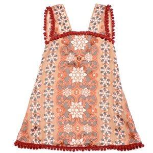 For Love & Lemons Juliet Mini Pom Pom Dress